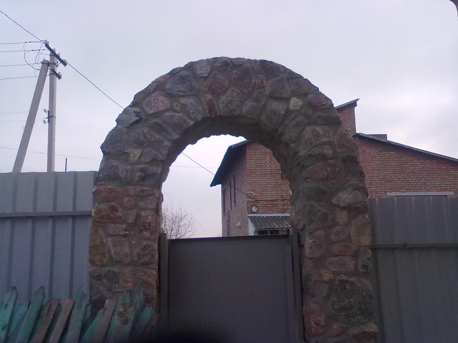 Как сделать арку над калиткой фото